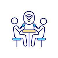 ícone de cor rgb de ponto de acesso wi-fi vetor