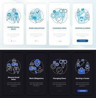tela inicial da página do aplicativo móvel de integração de carreira vetor