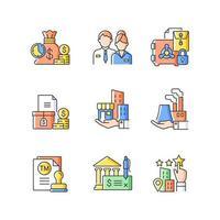 ícone de cor rgb de desenvolvimento de negócios vetor
