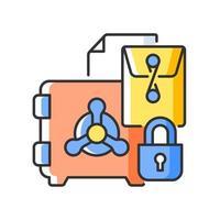ícone de cor rgb de segredos comerciais vetor