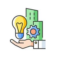 ícone de cor rgb de invenções da empresa vetor