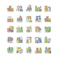ícone de cor rgb de ativos de negócios vetor