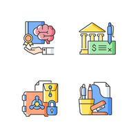 ícone de cor rgb de propriedade intelectual corporativa vetor