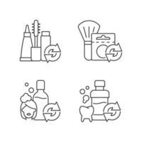 conjunto de ícones lineares de opções reutilizáveis vetor