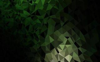 fundo poligonal do vetor verde escuro.