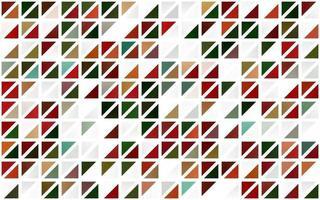 modelo sem emenda de vetor verde e vermelho claro com cristais, triângulos.