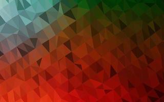 pano de fundo de mosaico abstrato de vetor verde e vermelho claro.