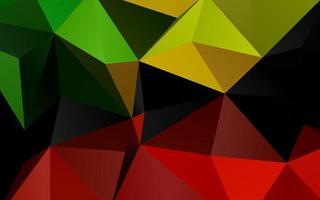 modelo de triângulo embaçado vetor verde claro e vermelho.