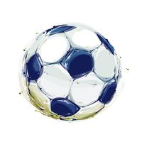 Bola de futebol em aquarela vetor