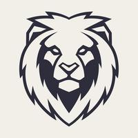 Mascote de vetor de cabeça de leão
