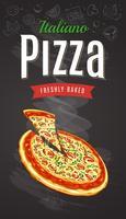 Vetor de pizza quente