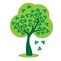 árvore do trevo do dia de Saint Patricks