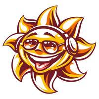 Vector sol de festa de verão