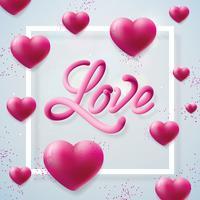 Amor, ilustração do dia dos namorados vetor