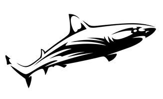 Forma de tubarão preto