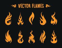 ícones de fogo vecstor vetor