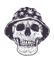 Crânio Rasta em Chapéu