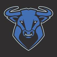 Ícone de vetor de mascote de touro