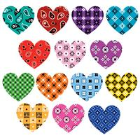 ilustrações de bandana hearts vetor