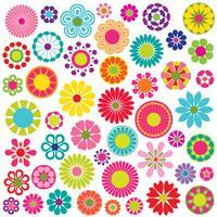 gráficos de vetor de flores mod