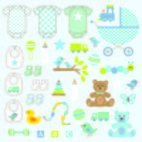 gráficos de clipart de menino bebê vetor