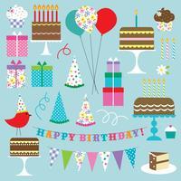 clipart de festa de aniversário vetor