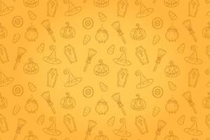 padrão sem emenda com ícones de halloween. p vetor