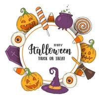 pôster de saudação de halloween vetor