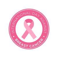 Dia Internacional contra o carimbo do cancro da mama vetor