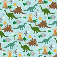 padrão de fundo de cena de dinossauro vetor