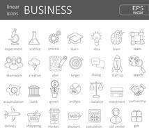 conceito de ícones de negócios