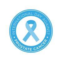 Dia Internacional Contra O Selo De Câncer De Próstata vetor