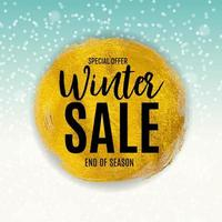 fim do fundo de venda de inverno, modelo de cupom de desconto. vetor