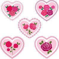 clipart de corações dos namorados rosa vetor