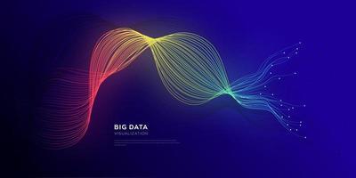 fundo de transformação de dados de fibra óptica vetor