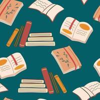 livros padrão sem emenda. biblioteca, livraria. vetor