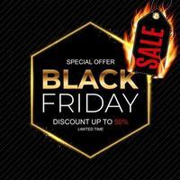 modelo de design do banner de inscrição de venda sexta-feira negra. vetor