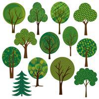 clipart de árvores de vetor