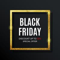 modelo de design de banner de inscrição de venda sexta-feira negra vetor