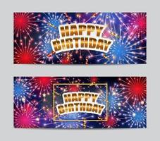 a inscrição feliz aniversário no fundo da saudação. vetor