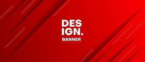 fundo de banner de estilo de fatia de papel vermelho vetor