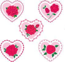 rosa dos namorados corações vetor