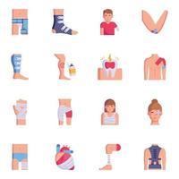 feridas e pacientes vetor