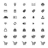 Conjunto de ícones Web vector. vetor