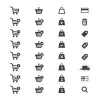 Vetor ajustado do ícone do comércio eletrônico.