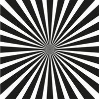 Fundo preto e branco brilhante dos raios. vetor