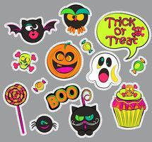 Emblemas de remendo de Halloween. vetor