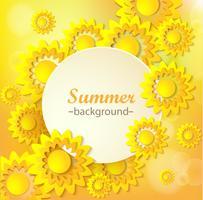 Cartão floral amarelo abstrato. vetor