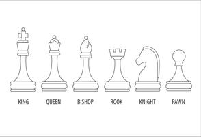 conjunto de peças de xadrez