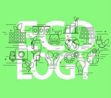 Conceito de ecologia. vetor